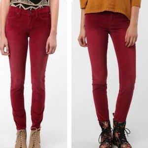Urban Outfitters BDG Red Cigarette Corduroys